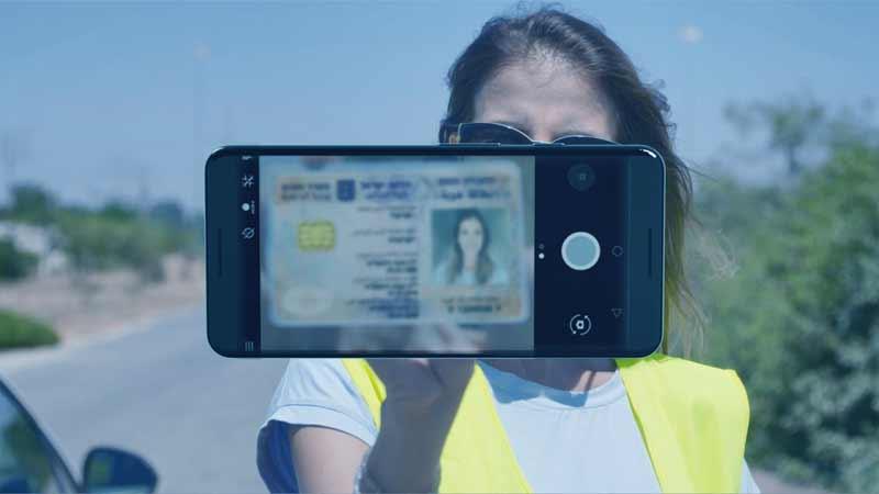 צילום של רישיון נהיגה בטלפון נייד
