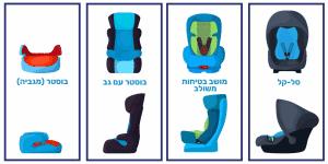 סוגים שונים של מושבי בטיחות