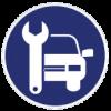 אייקון של רכב ומפתח שבדי